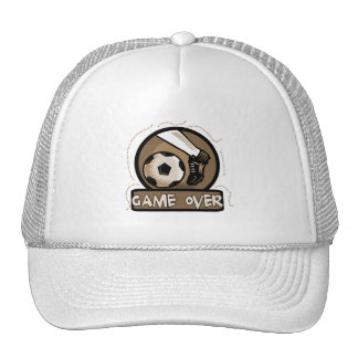 Soccer Kick Game Over Tshirts and Gifts Mesh Hats