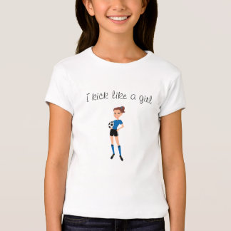 Soccer Kick Girl Cartoon Tee