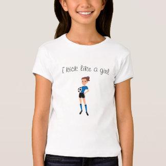 Soccer Kick Girl Cartoon Tee
