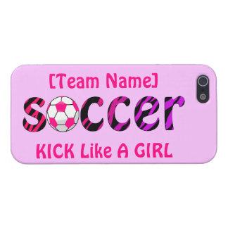 Soccer ~ KICK Like A Girl iPhone 5 Case