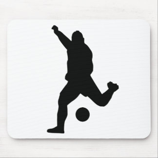 Soccer Kick Silhouette Mouse Mat