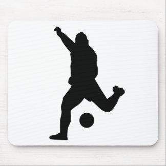 Soccer Kick Silhouette Mousepad