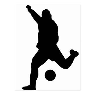 Soccer Kick Silhouette Postcard