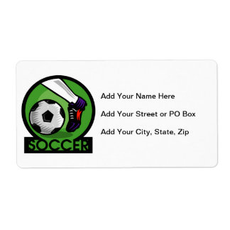 Soccer Kick T-shirts and Gifts Shipping Label
