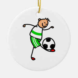 Soccer Kid Christmas Ornament