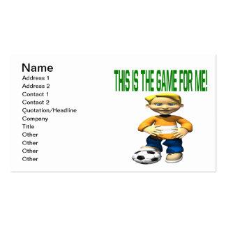 Soccer Kid Pack Of Standard Business Cards