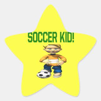 Soccer Kid Star Stickers