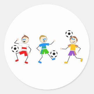 Soccer Kids Classic Round Sticker
