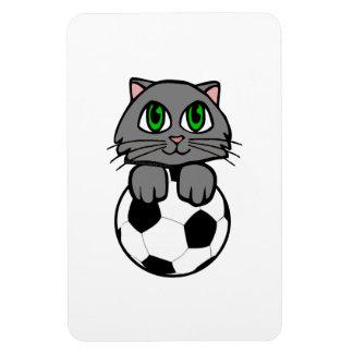 Soccer Kitten Vinyl Magnet