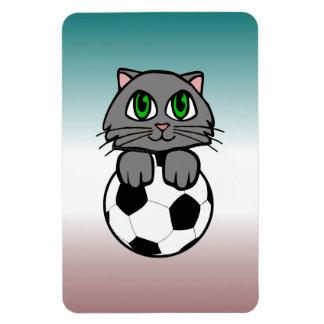 Soccer Kitten Rectangular Magnet