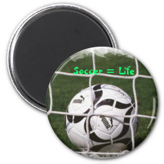 Soccer = Life 6 Cm Round Magnet