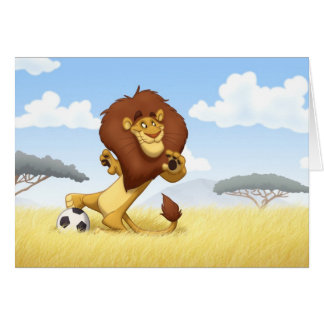 Soccer Lion Note Card