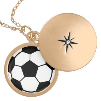 Soccer Locket Necklace for Girls
