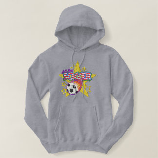 Soccer Logo Embroidered Hooded Sweatshirt
