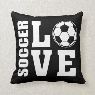Soccer Love Black Cushion
