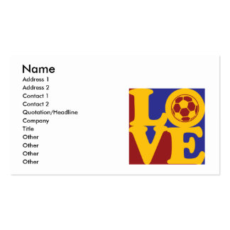Soccer Love Business Card Template