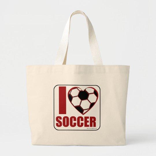 Soccer Love Large Tote Bag