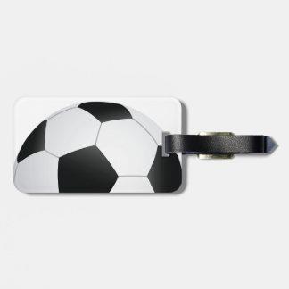 soccer luggage tag