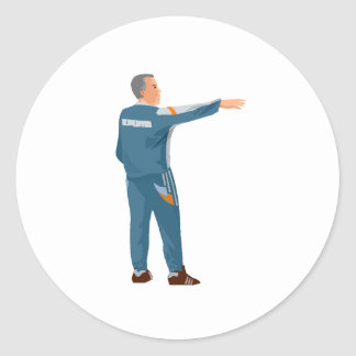 Soccer Manager Round Stickers