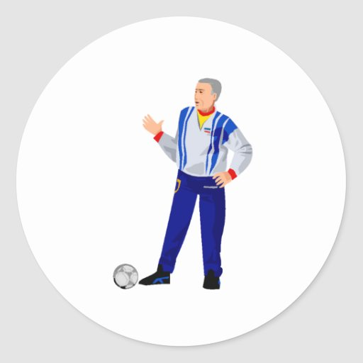 Soccer Manager Round Sticker