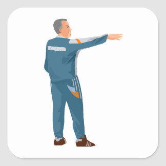 Soccer Manager Square Stickers