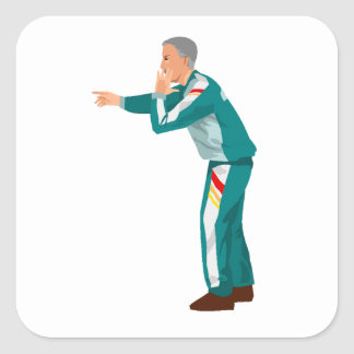 Soccer Manager Square Sticker