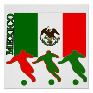 Soccer Mexico Poster