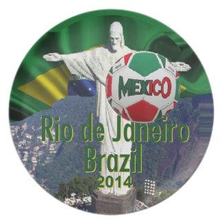 Soccer Mexico Rio Brazil Plate