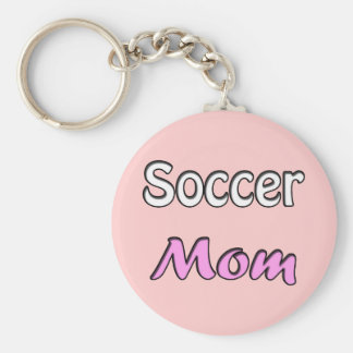 Soccer Mom Basic Round Button Key Ring