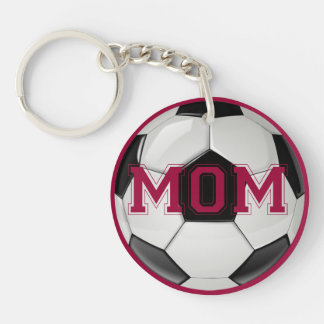 Soccer Mom Custom Colors Double-Sided Round Acrylic Key Ring