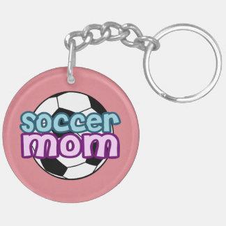 Soccer Mom Double-Sided Round Acrylic Key Ring