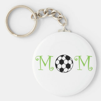 Soccer Mom Keychain, Lime Basic Round Button Key Ring