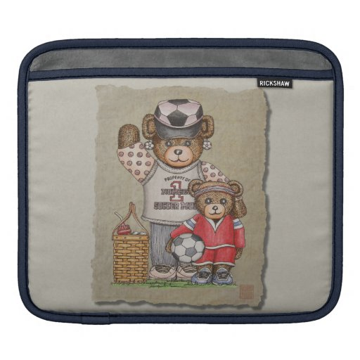Soccer Mom & Kid Bears iPad Sleeves