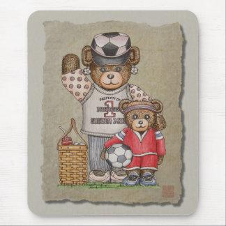 Soccer Mom & Kid Bears Mouse Pads