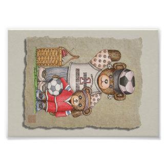 Soccer Mom Kid Bears Photo Print