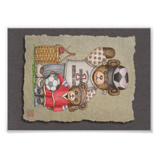 Soccer Mom & Kid Bears Photographic Print
