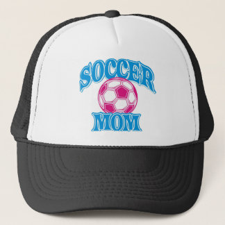 SOCCER MOM ON WHITE SHIRT 1 TRUCKER HAT