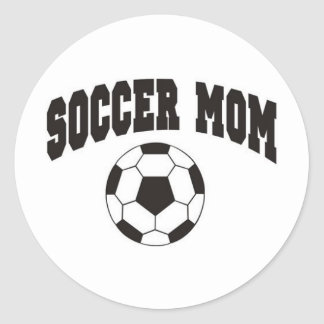 Soccer mom round sticker