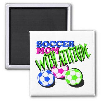 Soccer Mom with Attitude Refrigerator Magnet