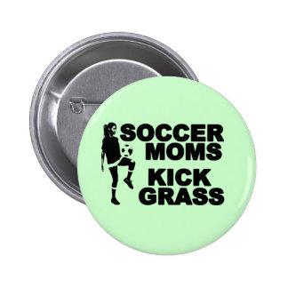 Soccer Moms Kick Grass 6 Cm Round Badge