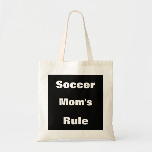 Soccer Mom's Rule Canvas Tote Bags