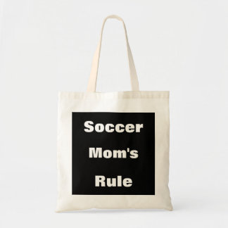 Soccer Mom's Rule Canvas Tote Budget Tote Bag