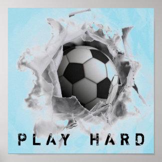 soccer motivational gift poster