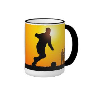 Soccer Ringer Coffee Mug