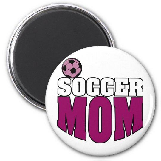 Soccer Mum 6 Cm Round Magnet
