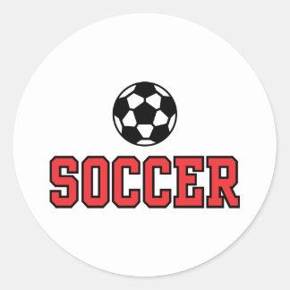 Soccer N Ball12 Round Sticker