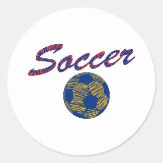 Soccer N Ball Round Sticker