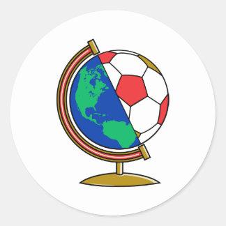 Soccer N World Round Stickers