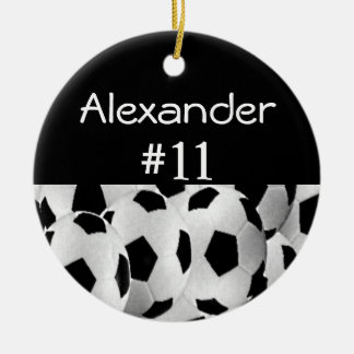 Soccer Name Number Christmas Ornament