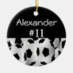 Soccer Name Number Round Ceramic Decoration
